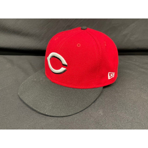 Photo of David Bell -- Game-Used Cap -- Worn During Wade Miley No-Hitter on May 7, 2021 - Reds @ Indians -- Size 7 1/4