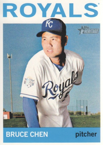 Photo of 2013 Topps Heritage #66 Bruce Chen