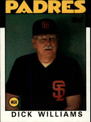 Photo of 1986 Topps #681 Dick Williams MG