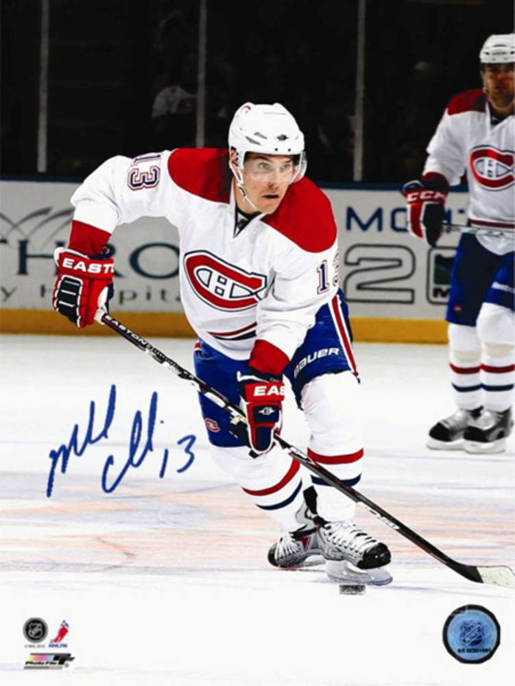 Mike Cammalleri Signed 16x20 Montreal Canadiens Red Action Photo