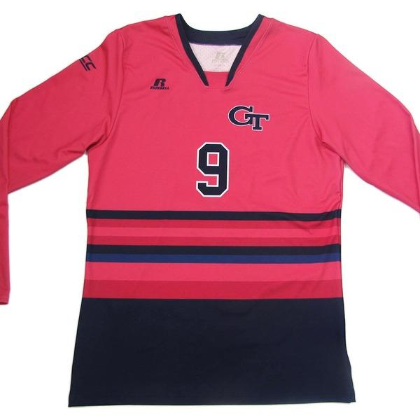 Photo of Georgia Tech 2016 Women's Volleyball Pink #9 Game Worn Jersey (XL)