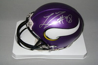NFL - VIKINGS LINVAL JOSEPH SIGNED VIKINGS MINI HELMET