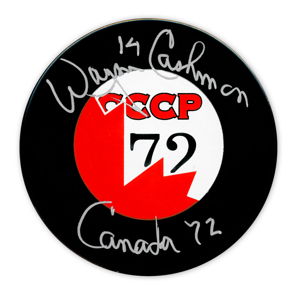 Wayne Cashman Team Canada Summit Series 1972 Autographed Puck