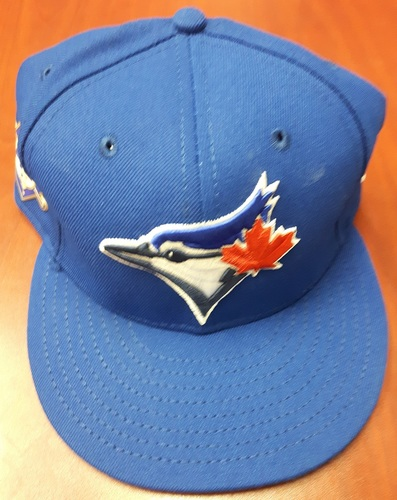 Photo of CHARITY AUCTION: Authenticated Game Used #42 Cap - Russell Martin (May 3, 2018: 1-for-5 with 1 Run and 2 RBIs). Size 7 1/2