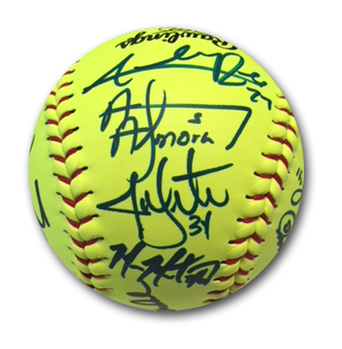 Photo of Autographed Team Softball