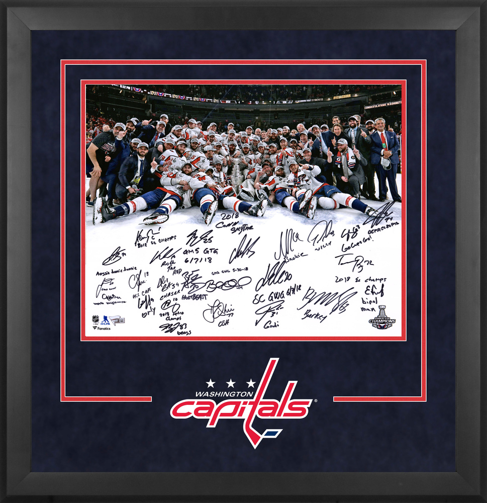 Washington Capitals 2018 Stanley Cup Champions Deluxe Framed Autographed 16