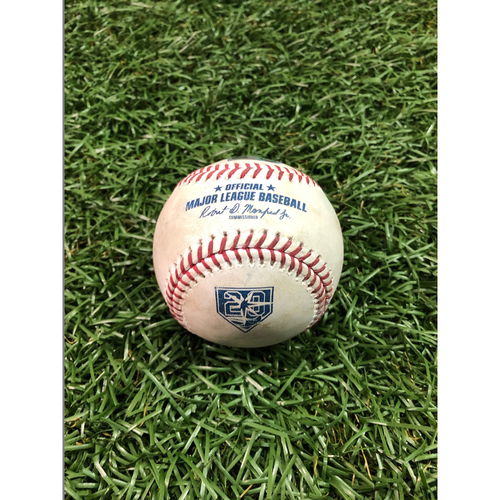 Photo of 20th Anniversary Game Used Baseball: Zach Britton strikes out Joey Wendle - September 24, 2018 v NYY