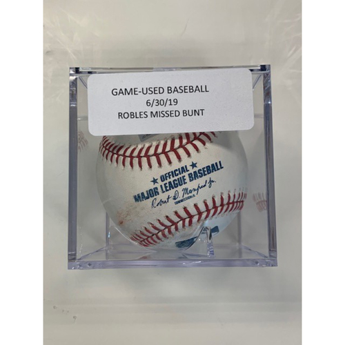Game-Used Baseball: Victor Robles Missed Bunt