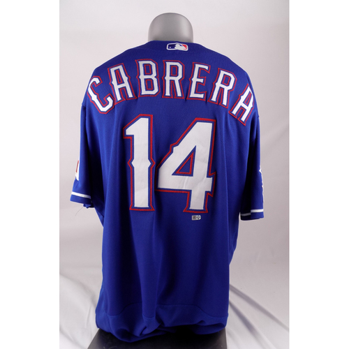 Photo of Final Season Game-Used Blue Jersey - Asdrubal Cabrera - 4/16/2019