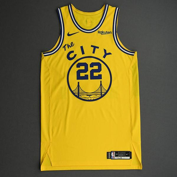 Image of Glenn Robinson III - Golden State Warriors - Game-Worn Classic Edition 1966-67 Home Jersey - Double-Double - 2019-20 NBA Season