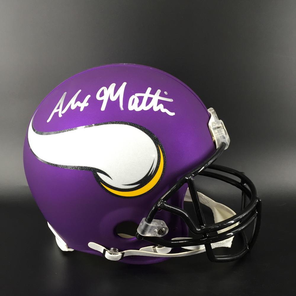 NFL - Vikings Alexander Mattison Signed Proline Helmet