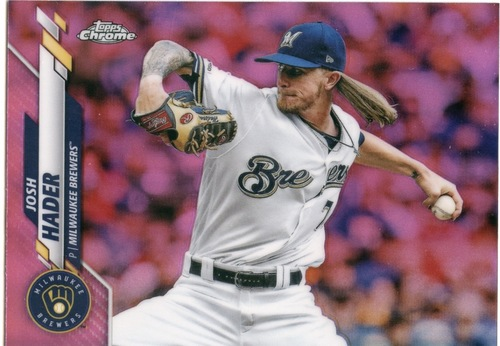 Photo of 2020 Topps Chrome Pink Refractors #40 Josh Hader