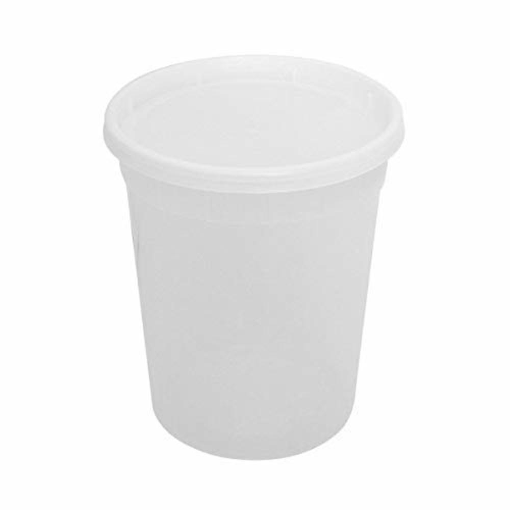Photo of Elite Settings Food Storage Container - Plastic Soup/Food Container with lids - Set of 24 (32 oz)