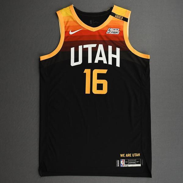 Image of Juwan Morgan - Utah Jazz - Game-Worn City Edition Jersey - 2020-21 NBA Season