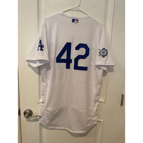 Photo of Walker Buehler Game-Used Jackie Robinson Day Jersey - Size 42