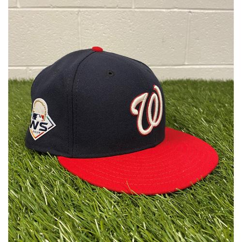 Photo of Joe Dillon Game-Used 2019 World Series Hat