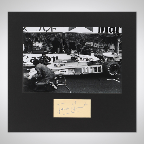 Photo of James Hunt 1976 Photograph With Mounted Autograph