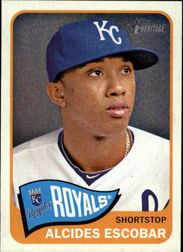 Photo of 2014 Topps Heritage #334 Alcides Escobar
