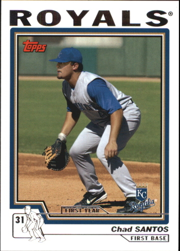 Photo of 2004 Topps Traded #T203 Chad Santos FY RC