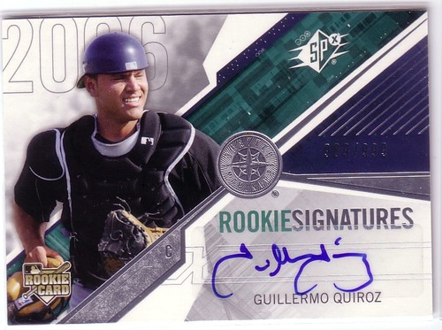 Photo of 2006 SPx #142 Guillermo Quiroz AU/999 (RC)