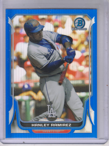Photo of 2014 Bowman Chrome Blue Refractors #55 Hanley Ramirez