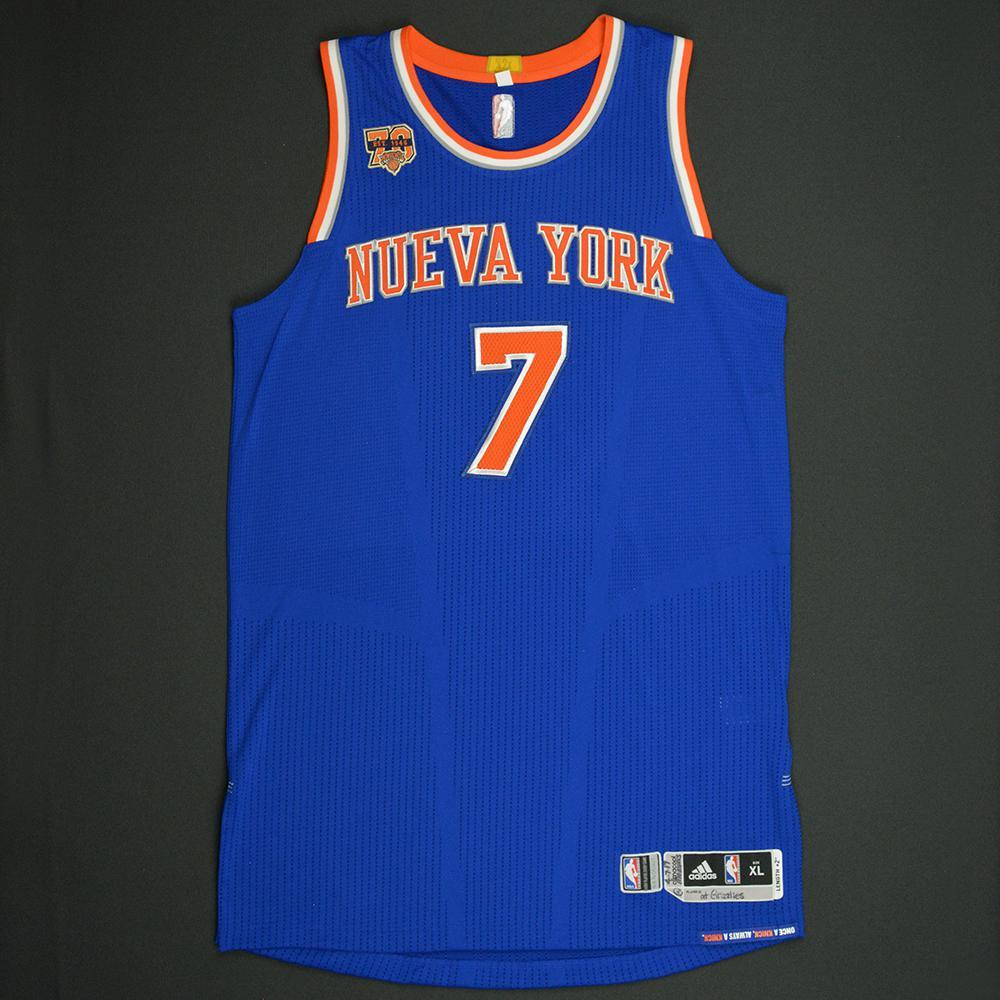 finest selection 5c32f ee117 Carmelo Anthony - New York Knicks - Game-Issued