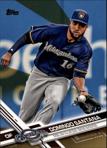 Photo of 2017 Topps Gold #628 Domingo Santana