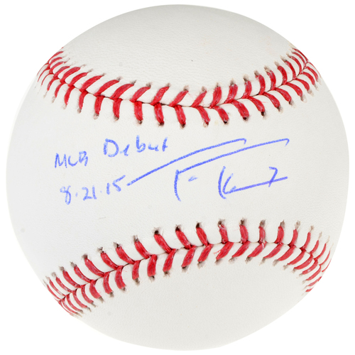 Photo of Trea Turner Washington Nationals Autographed Baseball with MLB Debut Inscription