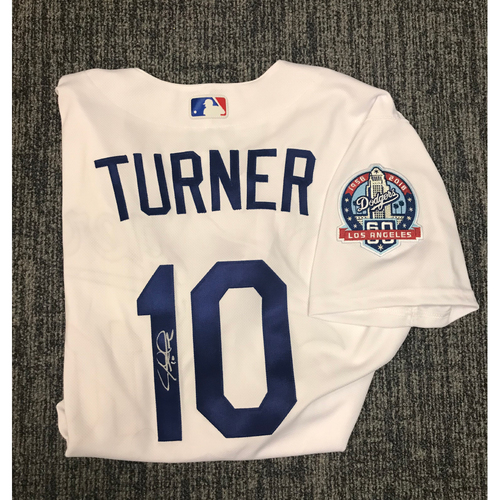 Photo of Kirk Gibson Foundation Auction: Justin Turner 2018 Team Issued Autographed Los Angeles Dodger Jersey