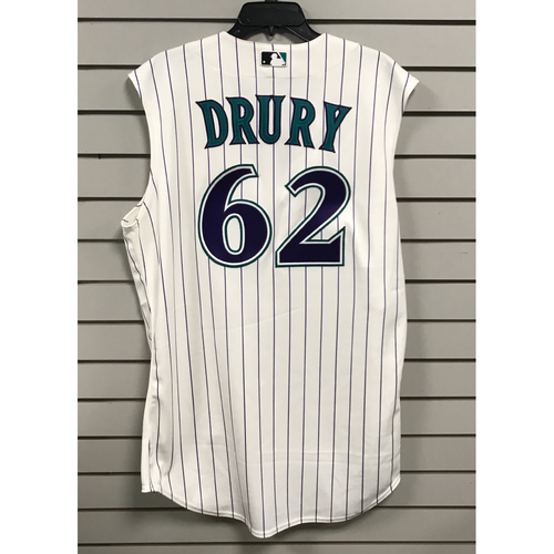 Photo of Brandon Drury Game-Used 2015 Throwback Jersey