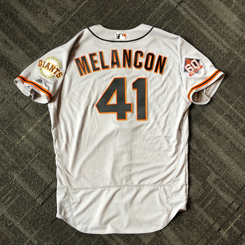 Photo of San Francisco Giants - Mother's Day Team-Issued Jersey - #41 Mark Melancon (size 48)
