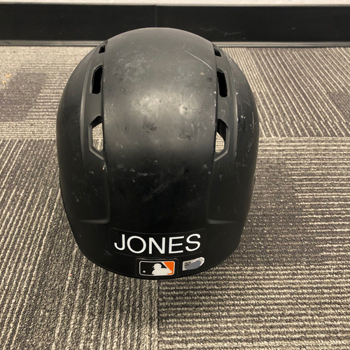 Photo of 2017 Game Used Batting Helmet Worn by #63 Ryder Jones on 6/24 and 6/30 - MLB Debut and First Career Hit - Size 7 1/4