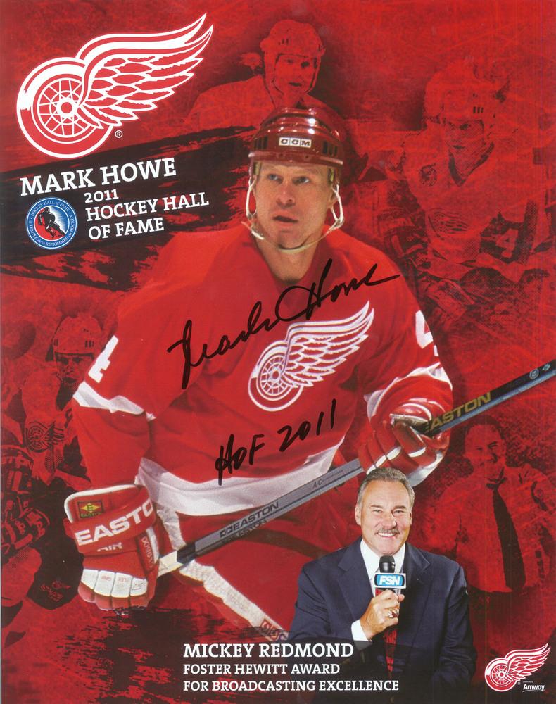 Mark Howe Signed 11x14