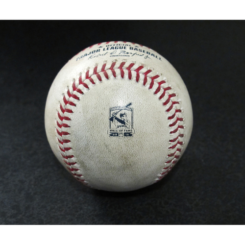Photo of Game-Used Baseball - Pitcher: Charlie Morton, Batter: Mallex Smith (Triple) - 8/10/19 vs. TB