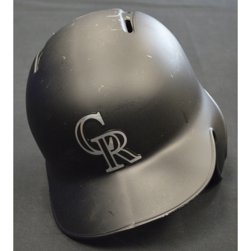 "Photo of Chi Chi ""Chi Chi"" Gonzalez Colorado Rockies Game-Used 2019 Players' Weekend Helmet"