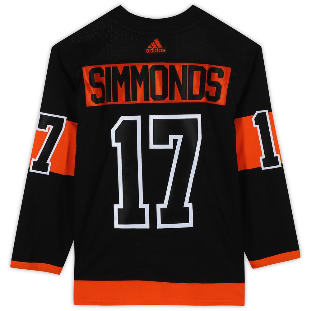 Wayne Simmonds Philadelphia Flyers Unsigned Black Alternate Adidas Authentic Jersey