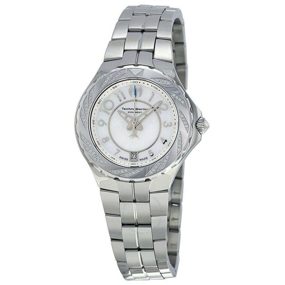 Photo of Technomarine Sea Pearl White Dial Diamond Stainless Steel Ladies Watch