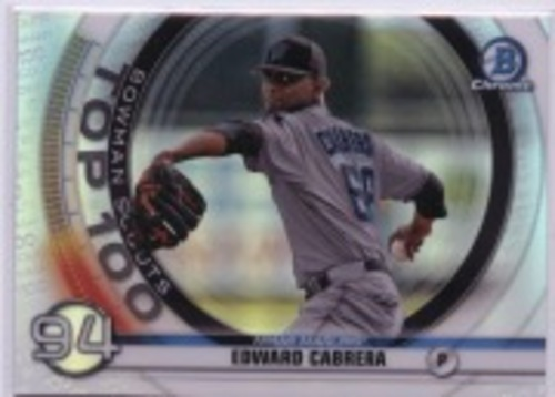 Photo of 2020 Bowman Chrome Scouts Top 100 #BTP94 Edward Cabrera