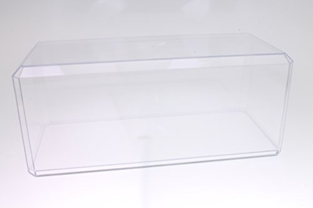 """Photo of Pioneer Plastics Clear Acrylic Display Case for 1:18 Scale Cars, 13"""" x 5.5"""" x 5"""" (Mailer Box)"""