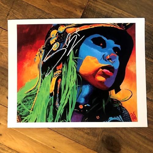 Photo of Shotzi Blackheart SIGNED Rob Schamberger 11 x 14 Art Print (Famous Monster)