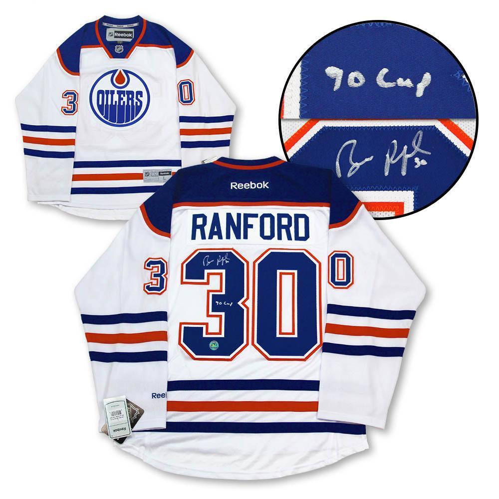 Bill Ranford Edmonton Oilers Signed & Inscribed Reebok Jersey