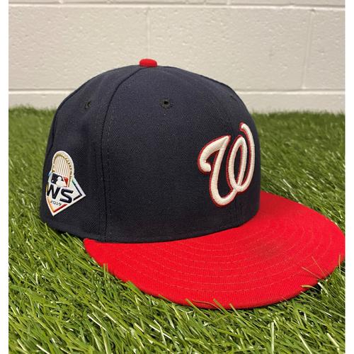 Photo of Joe Ross Game-Used 2019 World Series Hat