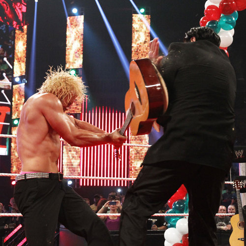 Dolph Ziggler SIGNED Guitar used to attack Ricardo Rodriguez on Smackdown