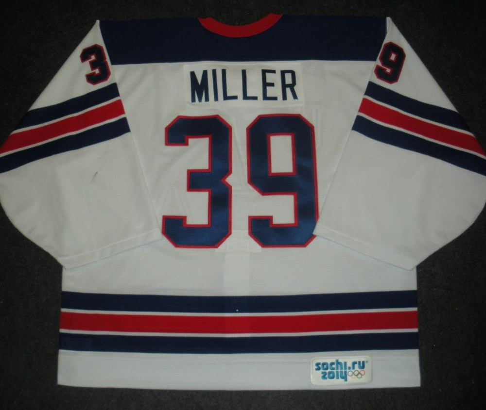 e237201af Ryan Miller - Sochi 2014 - Winter Olympic Games - Team USA Throwback Game-Worn  Jersey - Worn in Warmups and 1st Period vs. Slovenia, 2/16/14