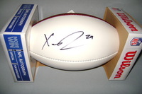 NFL - VIKINGS XAVIER RHODES SIGNED PANEL BALL (SLIGHT SMUDGE)