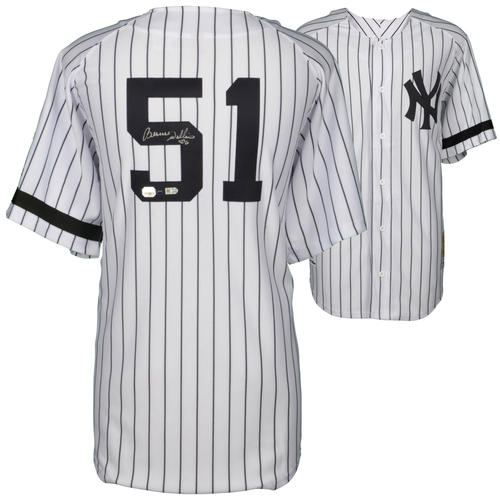 Photo of Bernie Williams New York Yankees Autographed Home Jersey