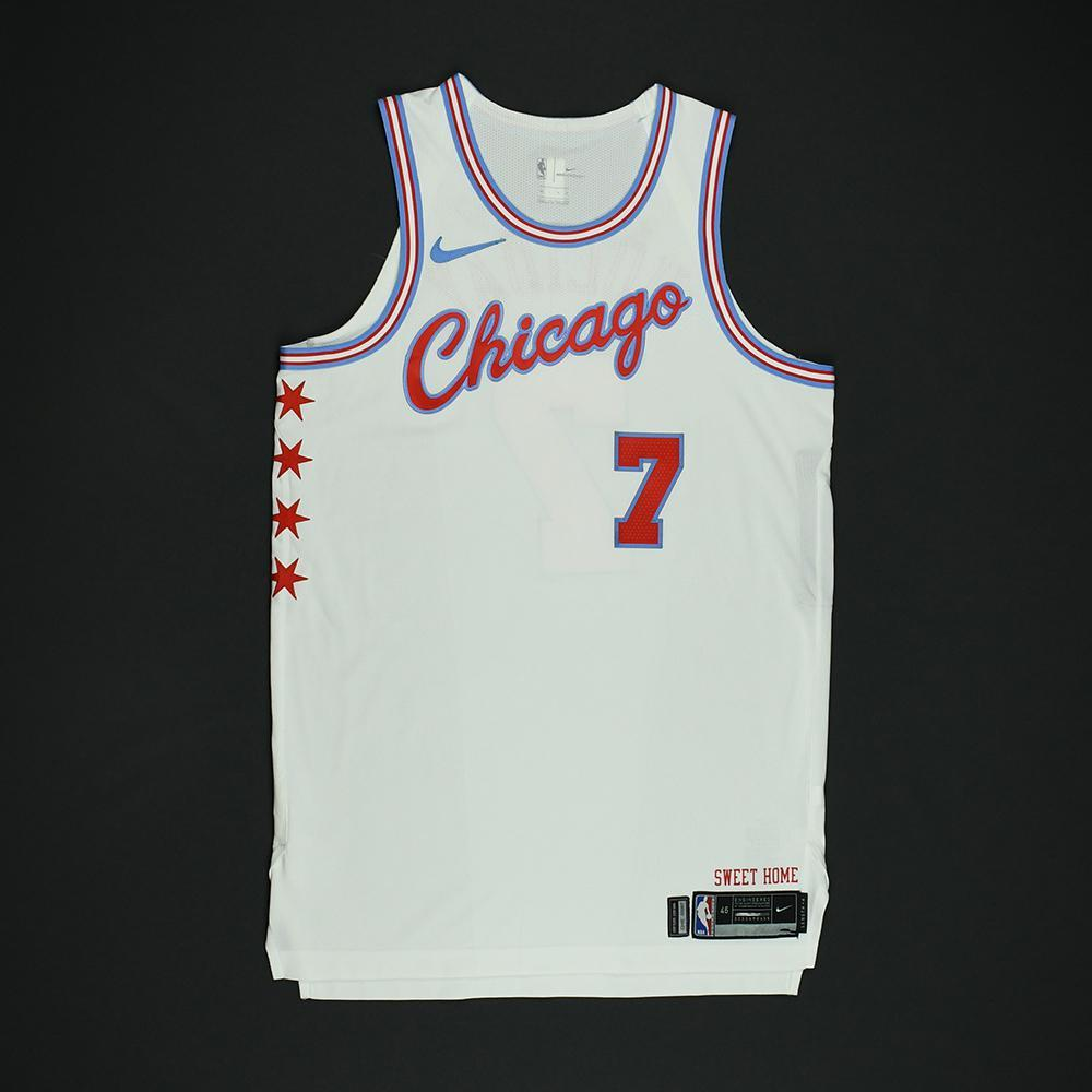 Justin Holiday - Chicago Bulls - Game-Worn 'City' Jersey - 2017-18 Season