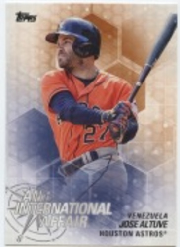 Photo of 2018 Topps Update An International Affair #IA46 Jose Altuve