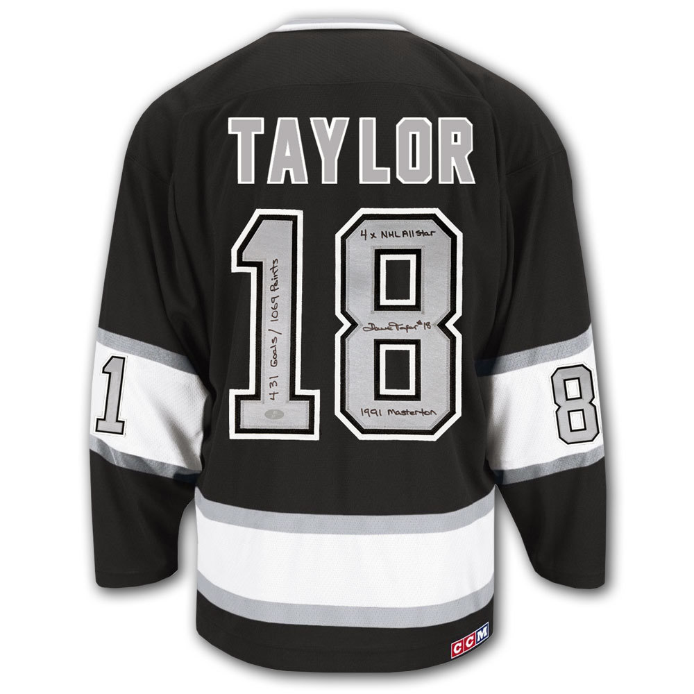 Dave Taylor Los Angeles Kings STATS CCM Autographed Jersey