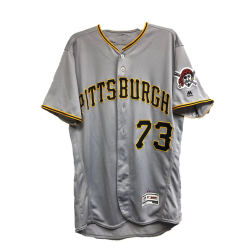 2018 Game-Used Felipe Vázquez Road Jersey